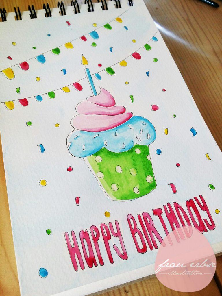 Geburtstagsmuffin