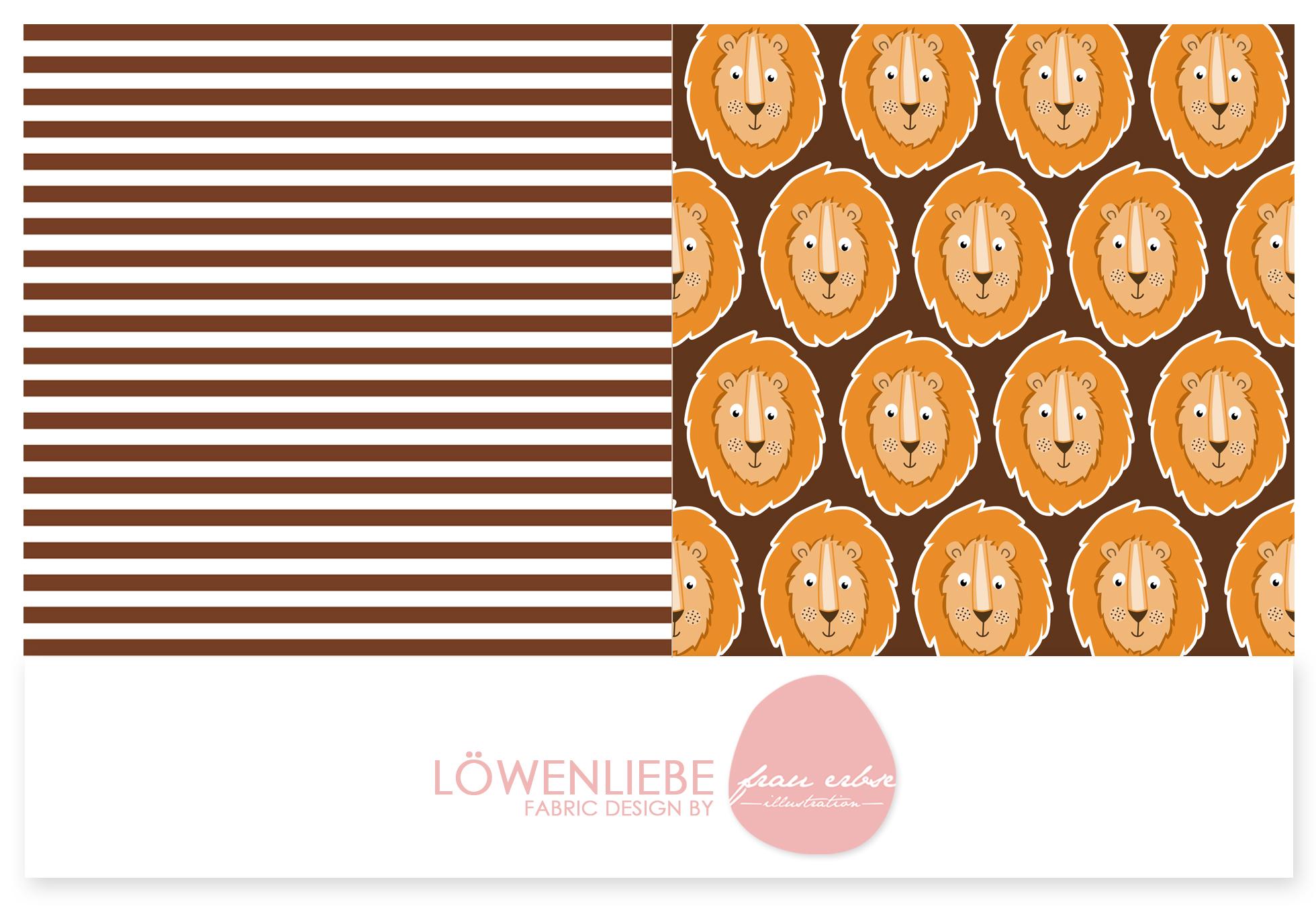 Stoffdesign Loewenliebe