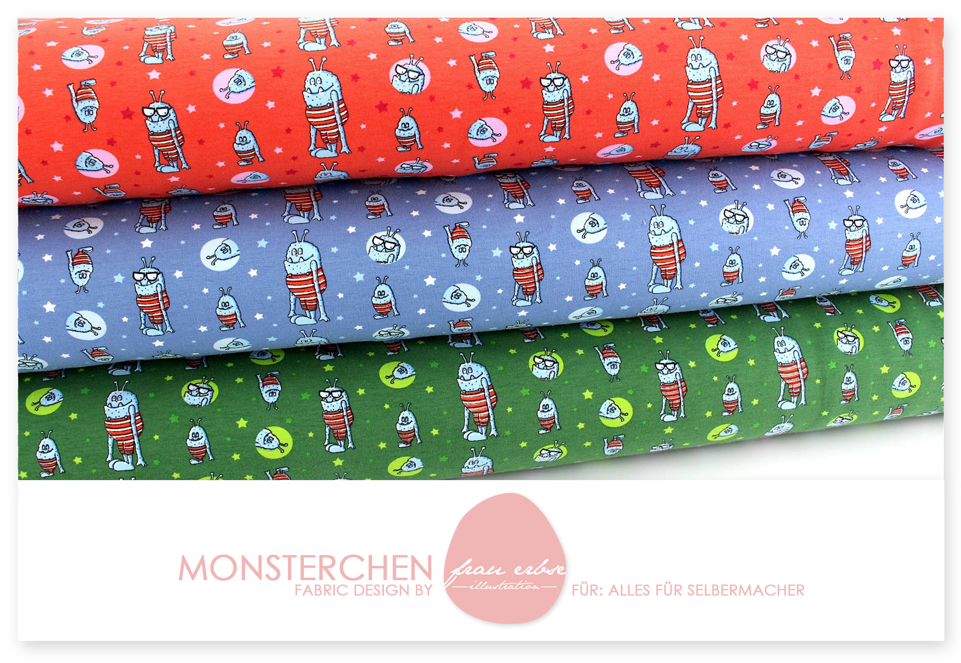 Stoffdesign Monsterchen