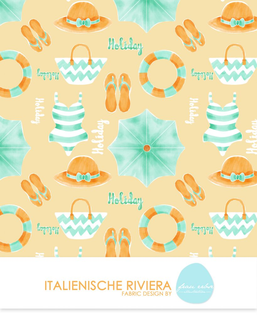 Stoffdesign Italienische Riviera