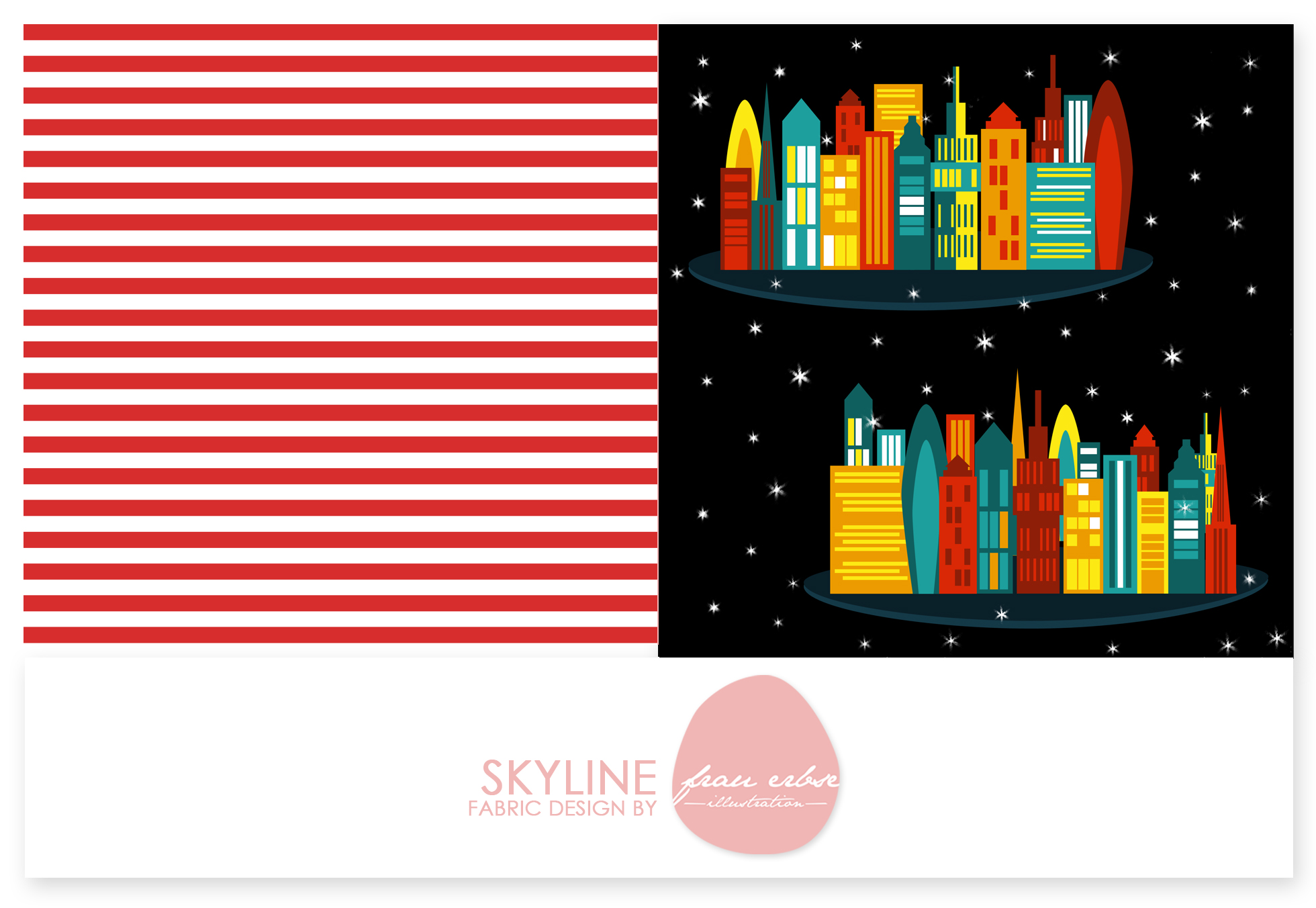 Stoffdesign Skyline