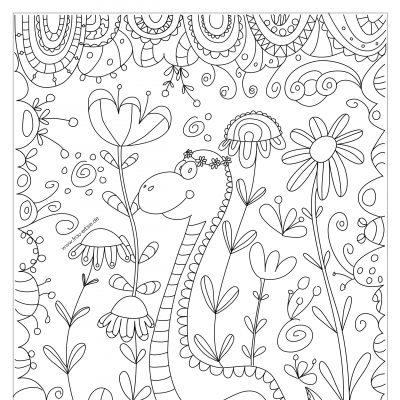 Ausmalbild Dino (digital)