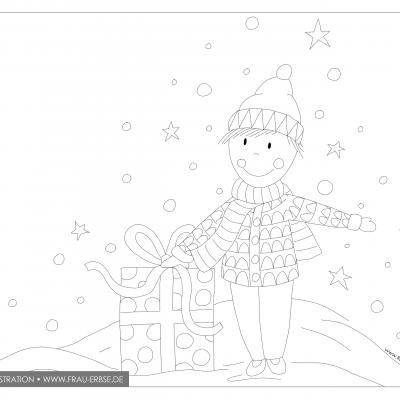 Ausmalbild Weihnachten (digital)