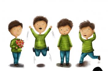 Portfolio Charakter 4 Jungs
