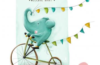 Portfolio Elefant auf Rad