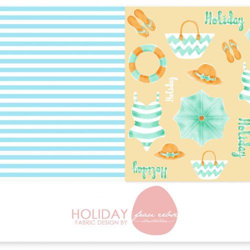 Stoffdesign Holiday