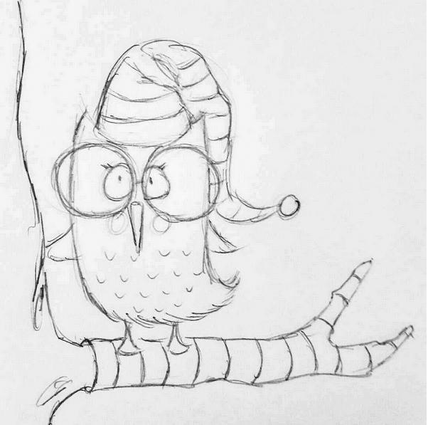 weihnachtseule-skizze