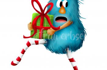 Weihnachtsfigur Monsterchen Kopie