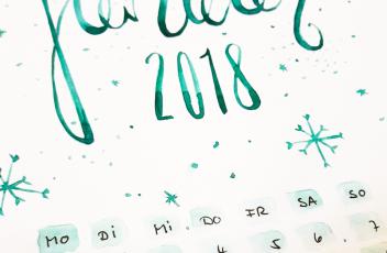 Januar 2018 Bullet Journal 001