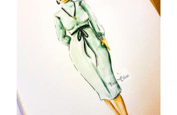 Portfolio Grünes Kleid