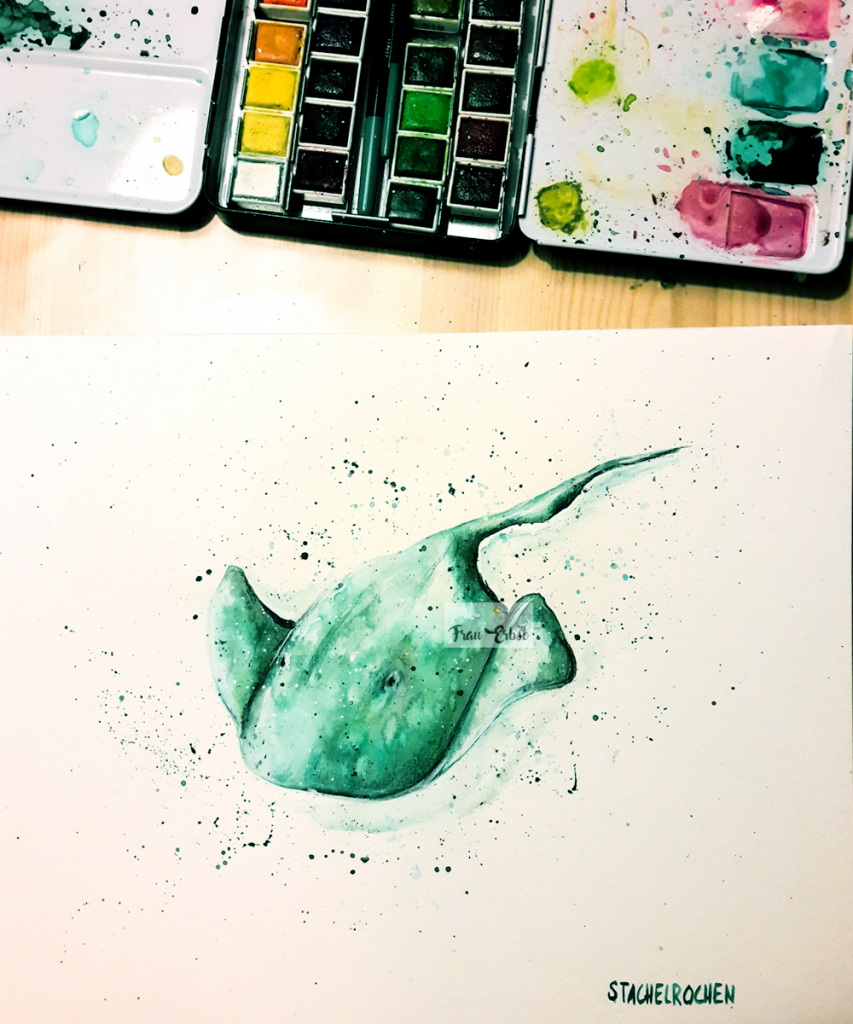 Stachelrochen Illustration Aquarell