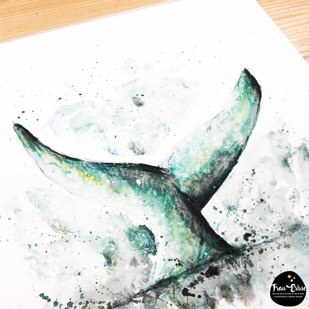 Walflosse Aquarell