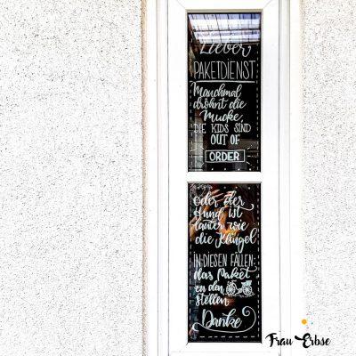 Fensterbeschriftung