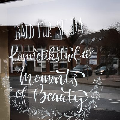 Vorankuendigung Kosmetikstudio