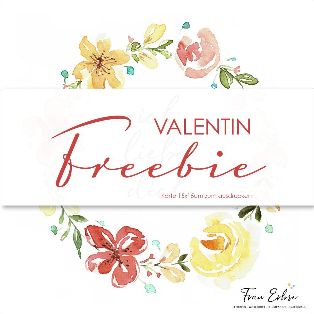 Valentin Freebie - druck dir deine Valentinkarte aus